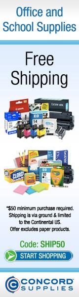 Free Shipping over $75 at ConcordSupplies.com