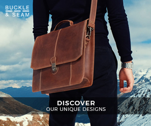 premium brown leather business bag