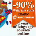 -90% : 1 year of language courses online