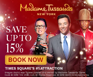 Save up to 15% off Madame Tussauds New York Admission