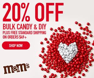 20% Off Bulk Candy & DIY! Use Code BULKMMS21! Valid 01/03 - 01/09!
