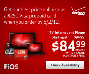 Get FiOS Triple Play for only $84.99/mo! + includes Activation Fee Waived!