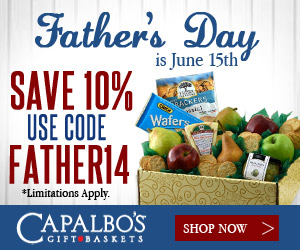 Capalbos Gift Baskets - Father's Day is June 15. Free shipping on select gift baskets.