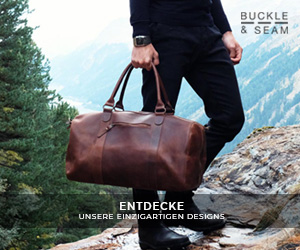 premium leather duffel bag for men buckle and seam