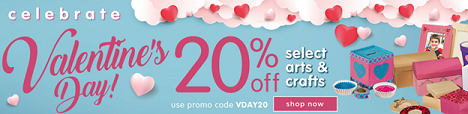 SAVE 20% Off Select Arts & Crafts Products To Educate, Engage & Entertain Children For Valentine's!