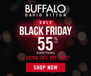Black Friday Sale: Get 55% off Regular price items at Buffalojeans.com