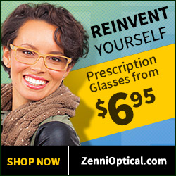 Reinvent Yourself with Zenni Glasses! Prescription Glasses from $6.95!