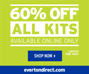 50% Off Everton Home, Away & Goalkeeper Kits 300x250