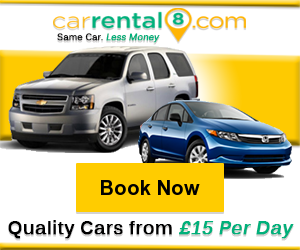 CarRental8 - Quality Cars from £15 Per Day