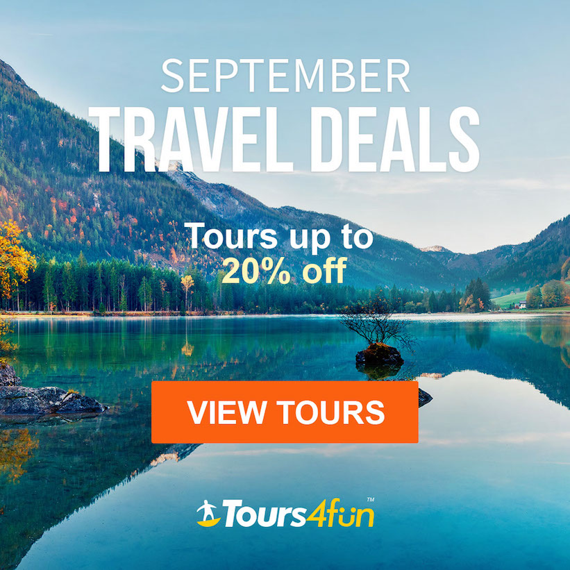 The September Travel Guide is here! Maximize your Summer Adventures with up to 20% off trips at Tour