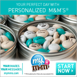 Promote your business with personalized M&M'S�.