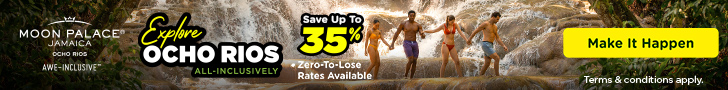 Warm up your winter with 2 for 1 savings to enjoy at Moon Palace Jamaica.