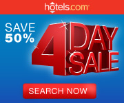 Save 50% during the hotels.com 4 Day Sale! Expires 11/28/11