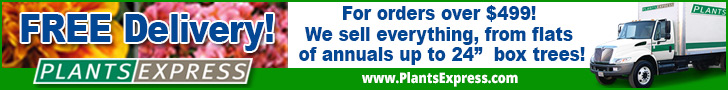 Free Delivery! For orders over $499! We sell everything, from flats of annuals up to 24