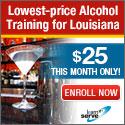 360Training- $25 for Louisiana Responsible Vendor Training v.2 125x125