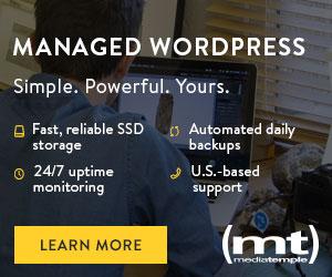 WordPress from Media Temple