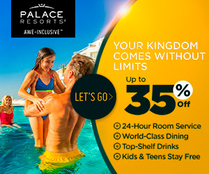 Your Kingdom comes without limits. Up to 35% off at Palace Resorts. Kids & Teens for Free.