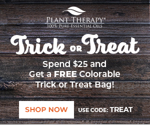 Get a FREE Colorable Trick or Treat Bag with Your $25+ Purchase, Only at Plant Therapy!