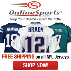 Free Shipping on all NFL Jerseys
