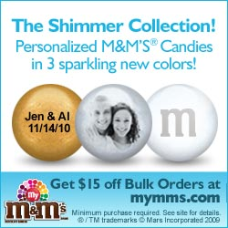 Personalized M&M'S® Wedding Favors - offer 415 off