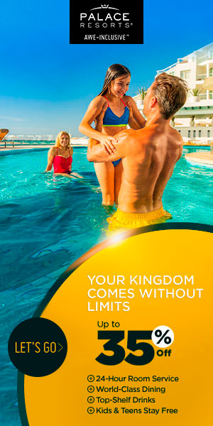 Your Kingdom comes without limits. Up to 35% off at Palace Resorts. Kids & Teens for Free. Safe Trav