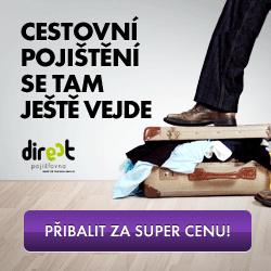 Cestovní pojištění od DIRECT Pojišťovny