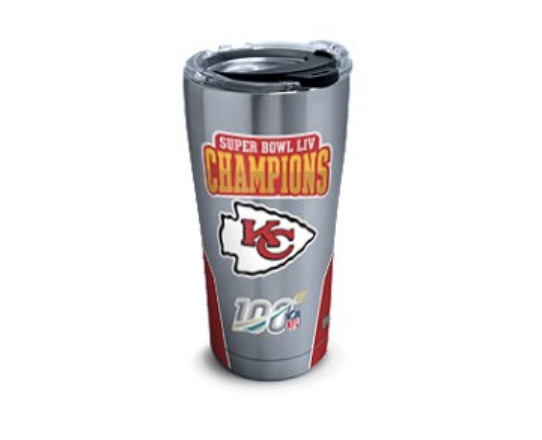 Get your licensed Super Bowl LIV Kansas City Chiefs tumblers only at Tervis