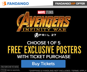 Free Exclusive Poster with purchase of tickets for 'Avengers: Infinity War'
