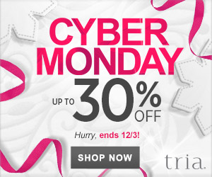 TRIA Beauty Cyber Monday - Up to 30% Off Gift Sets and Skincare. Valid 12/1-12/3.