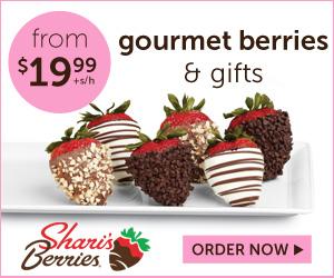 Shari's Berries Promo Code - Gourmet dipped berries & gifts from $19.99