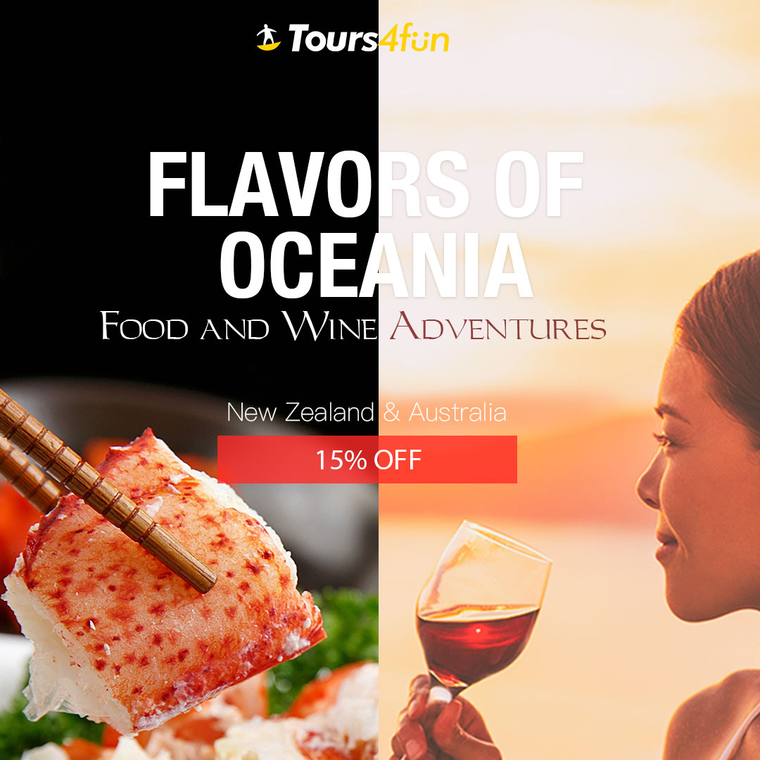 Flavors of Oceania - Food and Wine Adventures: Get up to 15% off tours