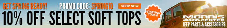 Get Spring Ready! Save 10% on select soft tops with code: SPRING10