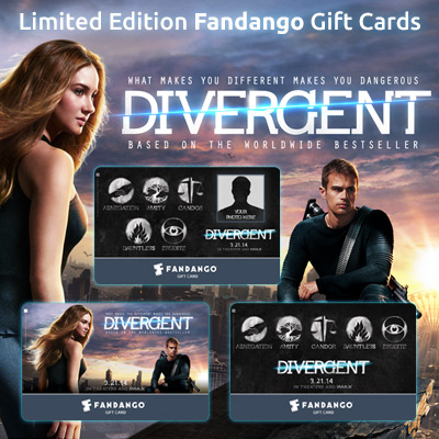 Want a Limited Edition Divergent Giftcard from Fandango? Enter Now!