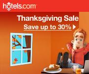 hotels.com Fall Sale: Save up to 40%!