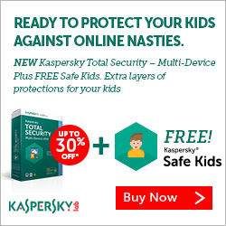 Up to 30% OFF Kaspersky Award Winning Internet Security!