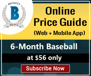 Image for Save 15% on 6 Month Baseball Price Guide_300x250