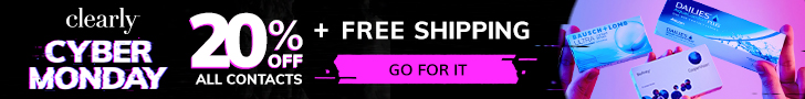 Cyber Monday – 20% off + Free Shipping On Contact Lens Orders over $99