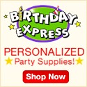 Personalized Party Supplies from Birthday Express
