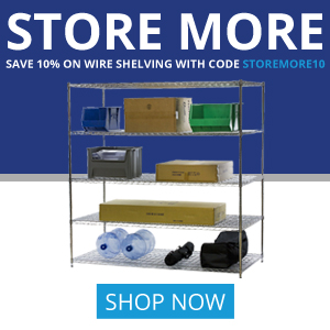 Shelving Inc. - 300×300 Store More 10% OFF Coupon