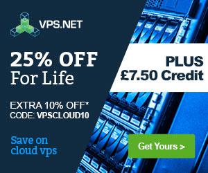 Get 25% + Extra 10% off - code: VPSCLOUD10