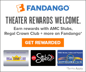 Earn points by providing your Theater Reward number with your purchase on Fandango.