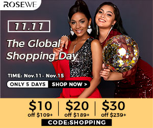The global shopping day! $10 off over $109,$ 20 off over $189 ,$30 off  over $239,with code:SHOPPING