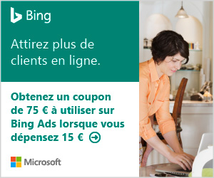 Coupon crédit publicitaires sur BingAds france