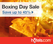 Hotels.com Canada Boxing Day Sale