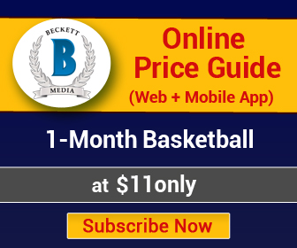 1 Month Basketball Online Price Guide (Web + Mobile App) Subscription._336x280