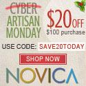 125x125 Artisan Monday at NOVICA - $20 Off $100