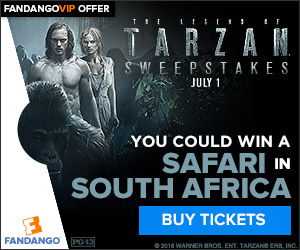 Fandango - Tarzan and Fandango South Africa Safari Sweepstakes