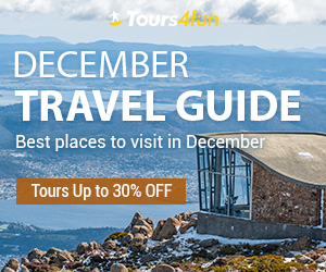 December Travel Guide: Up to 30% Off Tours, Activities, and Vacation Packages