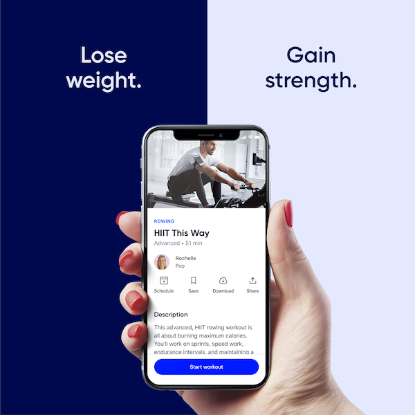 Fitness Training Apps - Aaptiv on phone