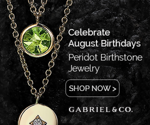 Peridot August Birthstone Fine Jewelry Banner 300 x 250